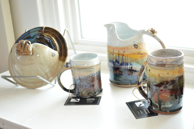 ceramics on display